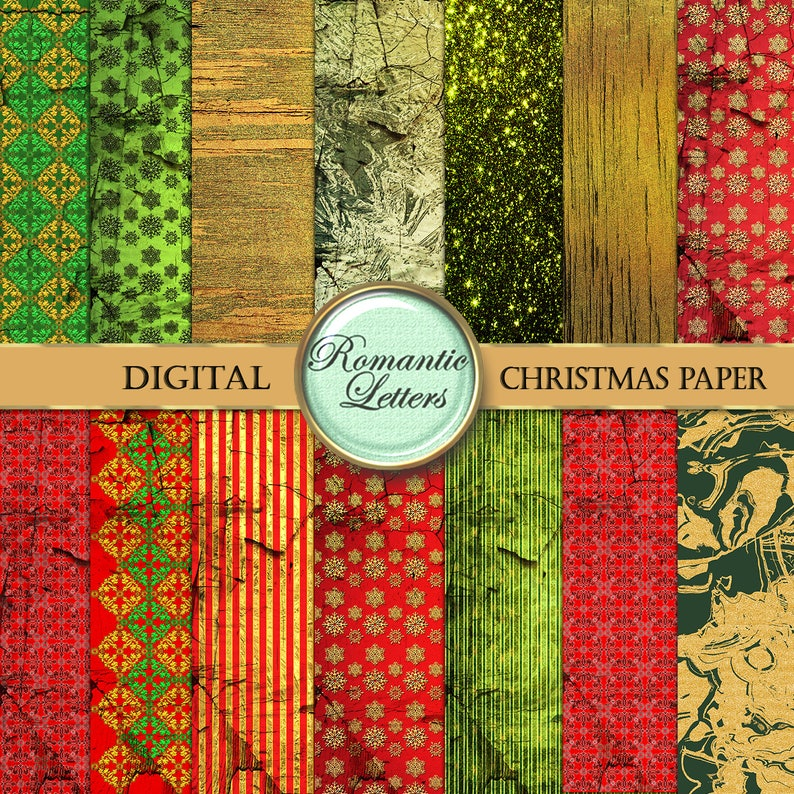 image about Christmas Printable Paper named Xmas electronic paper pack electronic Xmas sbook heritage paper Gold electronic gold electronic paper Xmas printable record