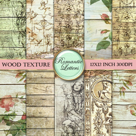 Digital Download England Digital Scrapbook Paper or Decoupage Paper Pack of 4 8.5x11 sheets Vintage Photographs from Europe