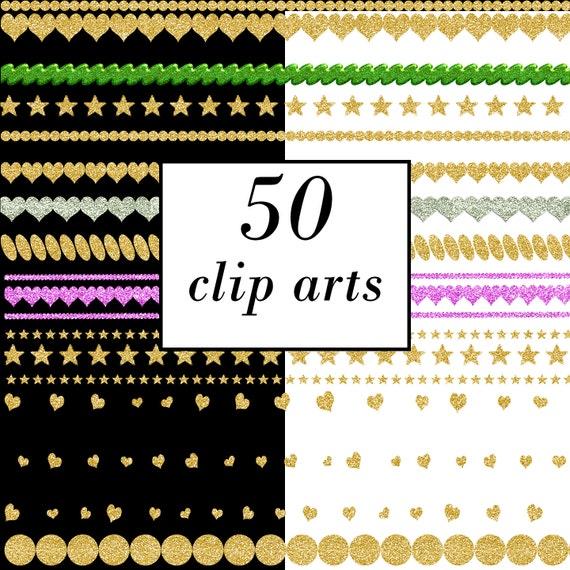 Digital Clip Art Scrapbook Borders Digital Gold Lace Digital Etsy