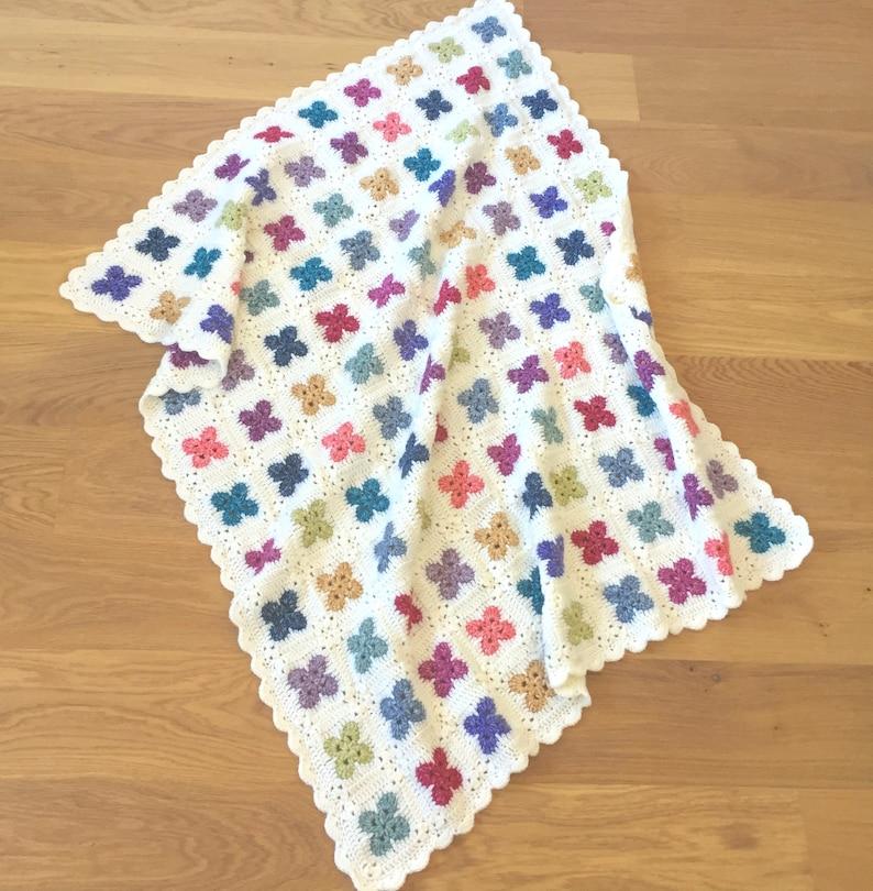 US Terms  Fleur Crochet Blanket pattern  image 0