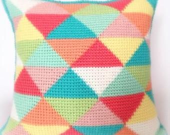 Tunisian Triangles PDF Tunisian Crochet Pattern