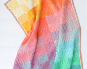 Tunisian Sunset - tunisian crochet pattern