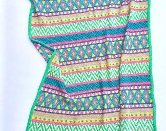 Vivo Throw - US Terms - Tapestry Crochet pattern