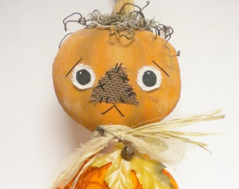Pumpkin Doll, Primitive Dolls, Halloween Decor, Primitive Pumpkins, Fall Home Decor