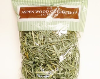 Primitive Prairie Grass, Green Aspen Wood Excelsior, Decorative Bowl Filler Shred