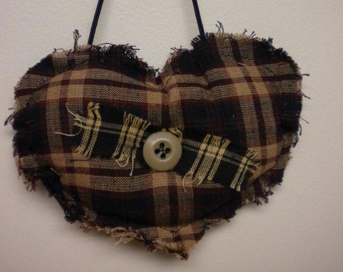 Heart Ornament, Handmade Ornaments, Fabric Hearts, Christmas Decor