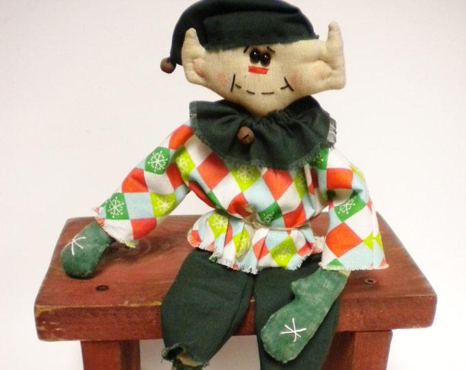 Primitive Elf Doll | Handmade Elf | Elf Dolls | Primitive Dolls | Christmas Decor