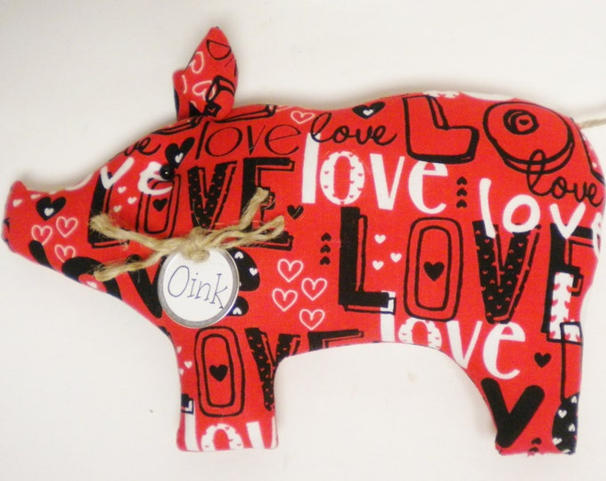 Love Pig - Made To Order | Valentine's Day Decor | Pig Decor