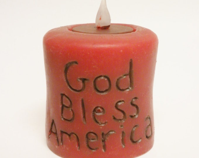 God Bless America Candle | Primitive Candles | Handmade Candles | Accent Lighting