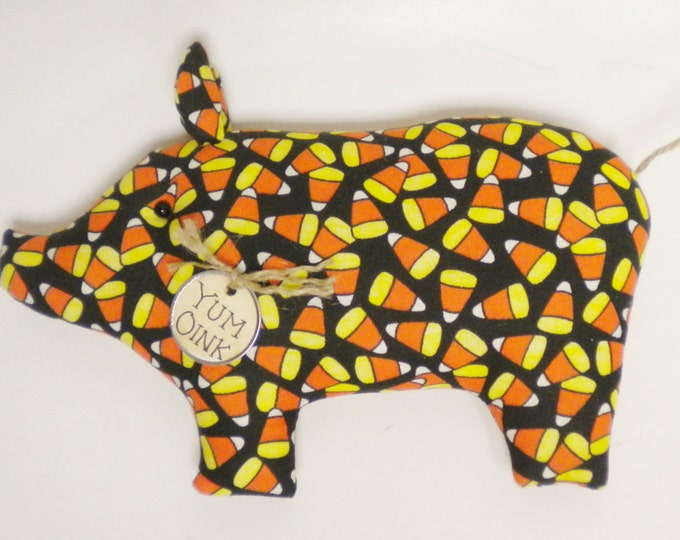 Candy Corn Pig - Made To Order | Primitive Pigs | Halloween Decor