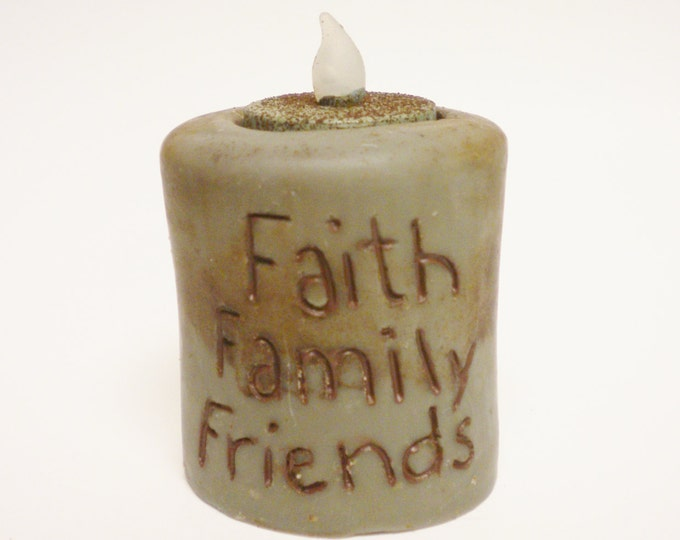 Faith Family Friends Candle | Primitive Candles | Accent Lighting | Handmade Candles