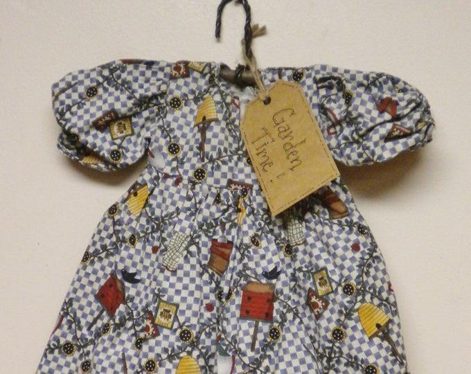 Garden Time Dress | Doll Dresses | Primitive Country Dress Decor