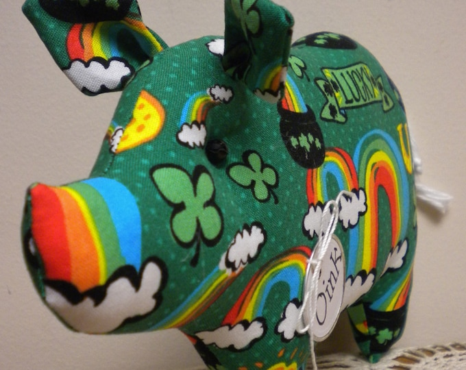 St. Patrick's Day Pig - Made To Order | St. Patrick's Day Decor | Primitive Pigs