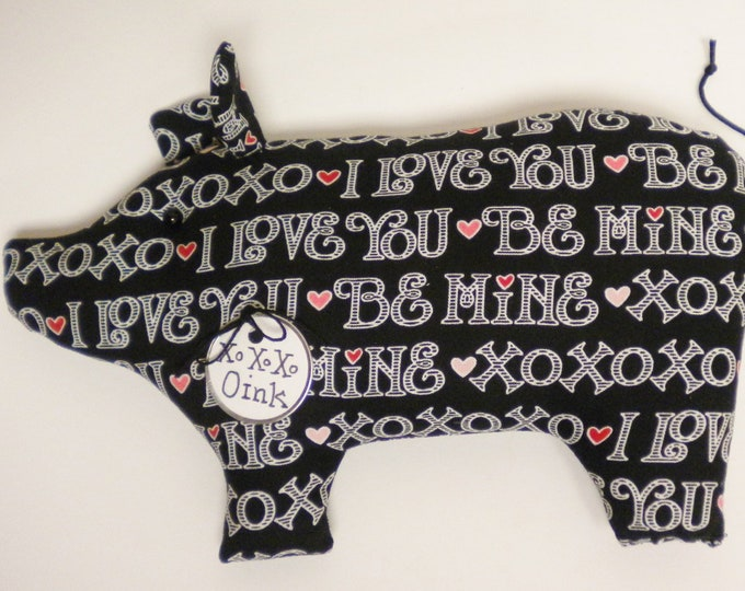 Be Mine Pig - Made To Order | Primitive Pigs | Valentine's Day Decor