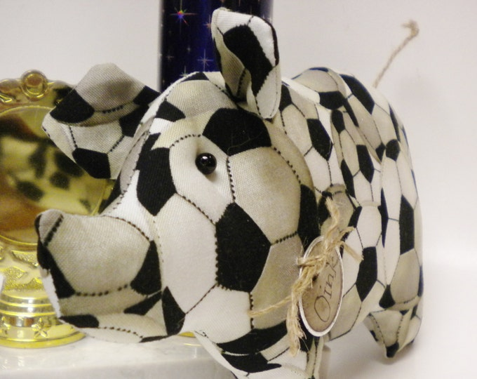 Soccer Pig - Made To Order | Sports Collectibles | Primitive Pigs