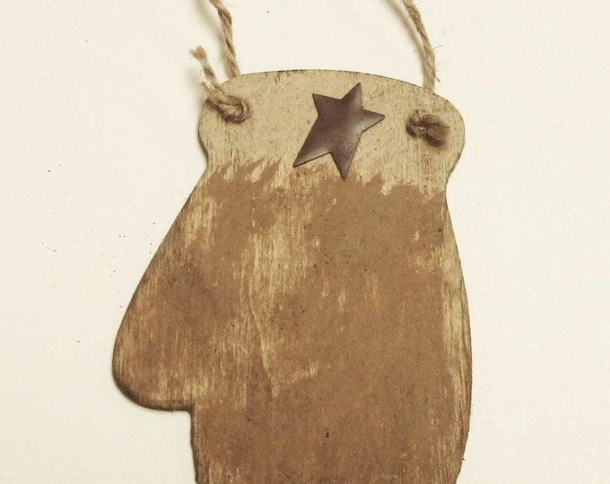 Mitten Ornament | Primitive Ornaments | Christmas Decor | Handmade Ornaments