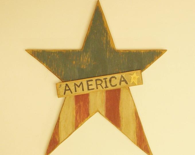 Primitive Americana Star | Wood Stars | Primitive Stars
