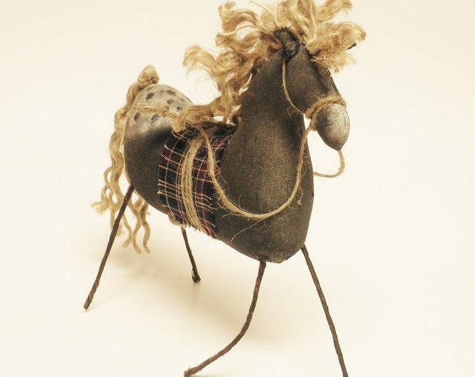 Black Appaloosa Horse | Primitive Horses | Handmade Horses | Country Farmhouse Decor | Folk Art Horses