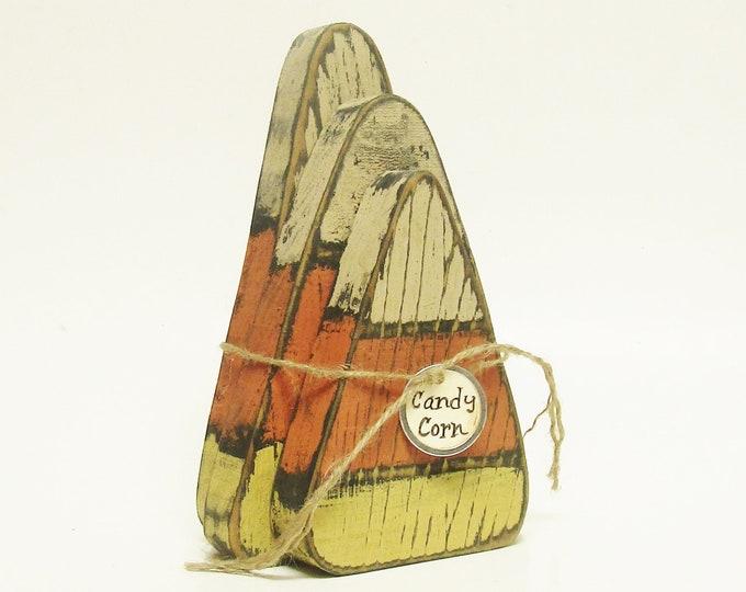 Primitive Candy Corn - Made To Order | Wood Candy Corn Blocks | Halloween Decor