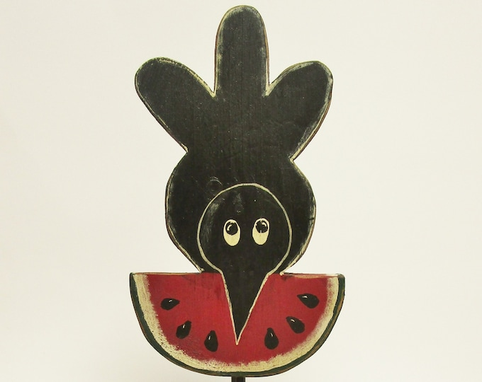 Primitive Watermelon Crow Make Do Set, Country Farmhouse Summer Decor