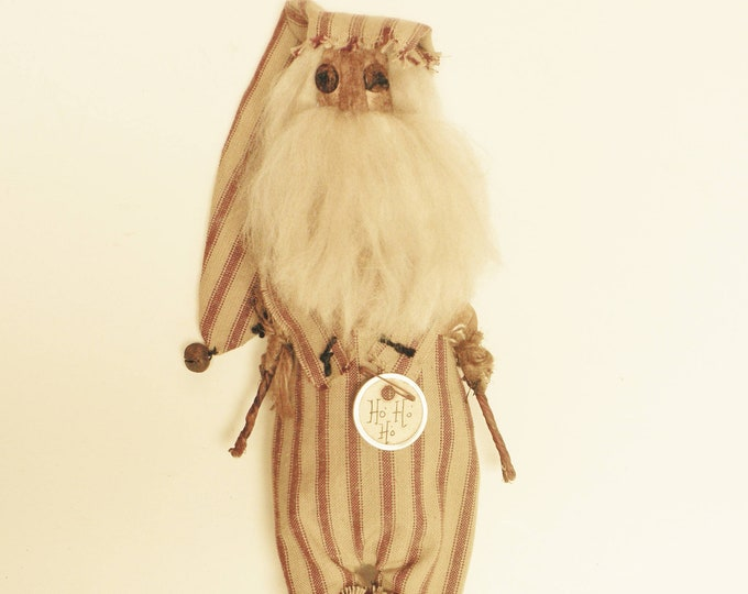 Santa Ornament | Primitive Ornaments | Mini Santa Dolls | Christmas Decor | Handmade Ornaments