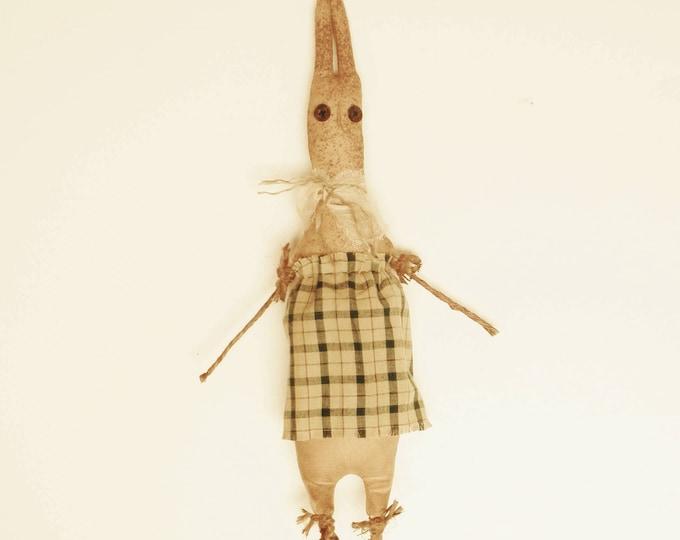 Primitive Rabbit, Handmade Rabbit Dolls, Spring Decor, Country Farmhouse Animal Accents