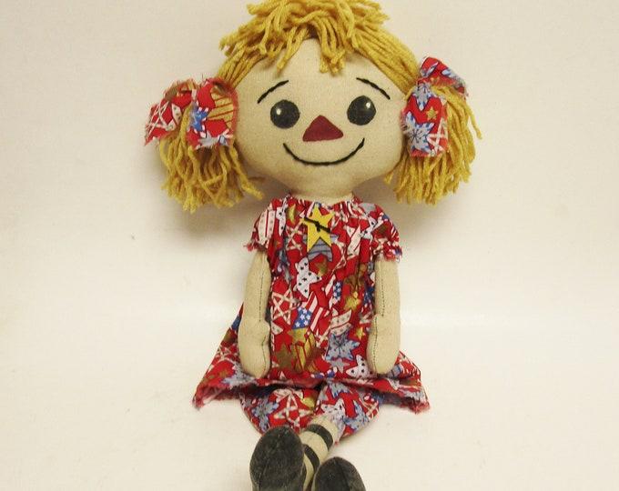 Patriotic Annie Doll | Primitive Americana Dolls | Handmade Annie Dolls