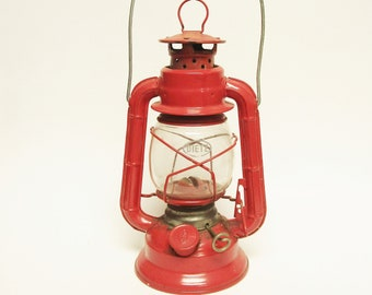 Vintage Red Lantern Dietz Comet Kerosene Oil Lamp, Rustic Red Lanterns