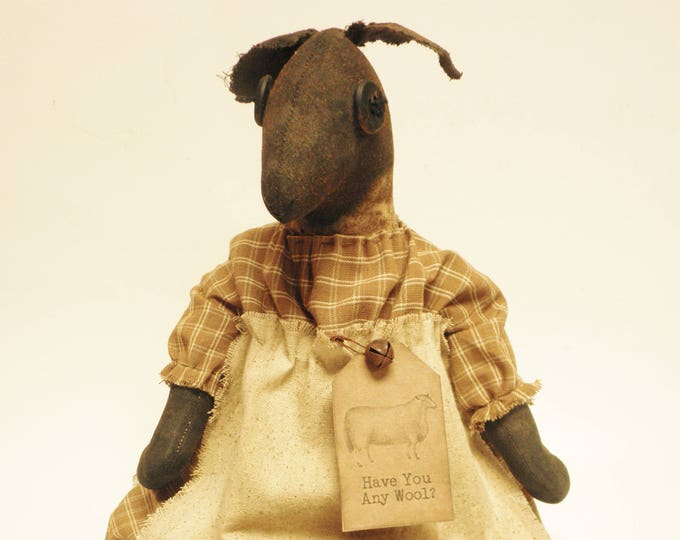 Primitive Sheep Doll | Handmade Sheep | Primitive Dolls | Country Farmhouse Sheep Decor