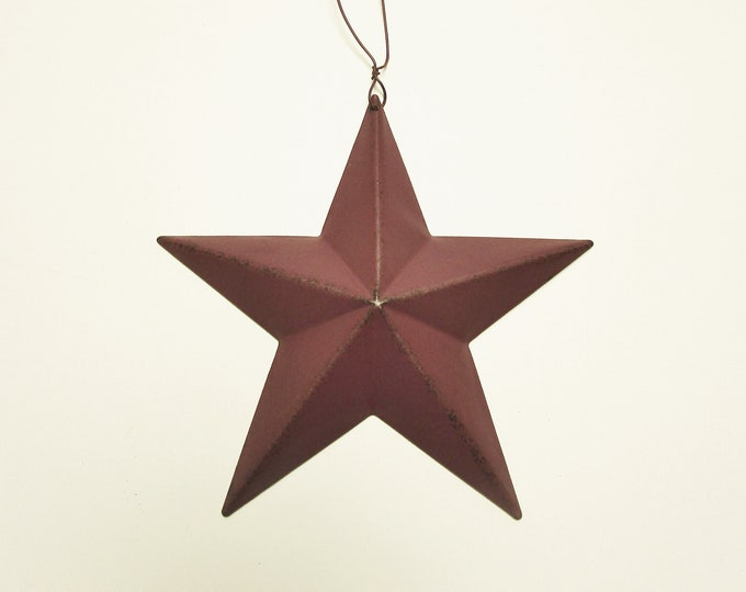 Tin Star Ornaments | Primitive Americana Stars | Country Farmhouse Accents