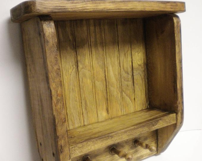 Tavern Shelf   Wood Shelving   Primitive Wall Shelf Handmade