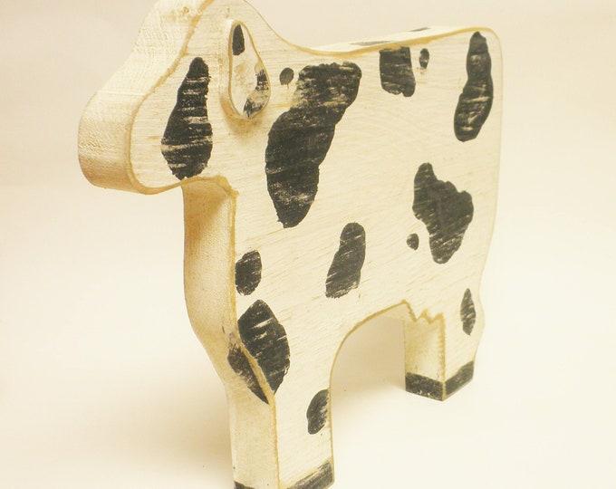 Chunky Wood Animal, Primitive Cow, Primitive Sheep, Primitive Bear, Wood Animals, Handmade Wood Animals