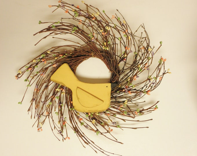 Primitive Bird Twig Wreath | Handmade Wreaths | Spring Wreaths