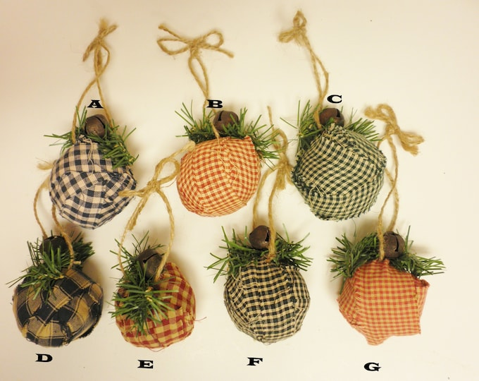 Rag Ball Ornament | Handmade Rag Balls | Primitive Ornaments