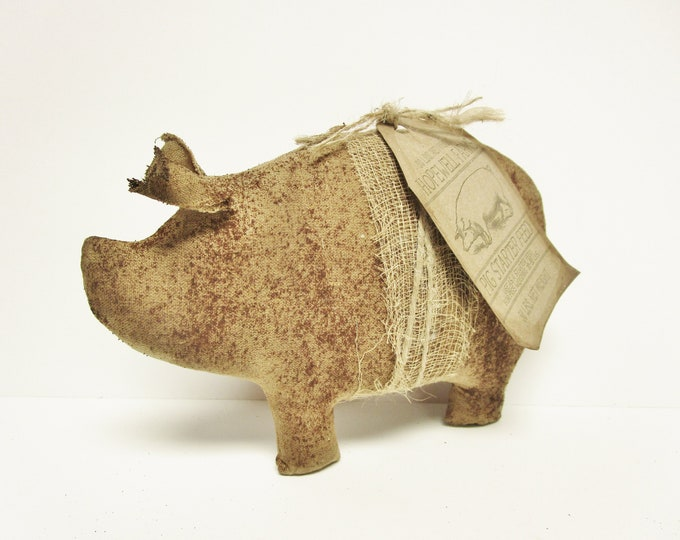 Primitive Pig, Handmade Pigs Country Farmhouse Accents