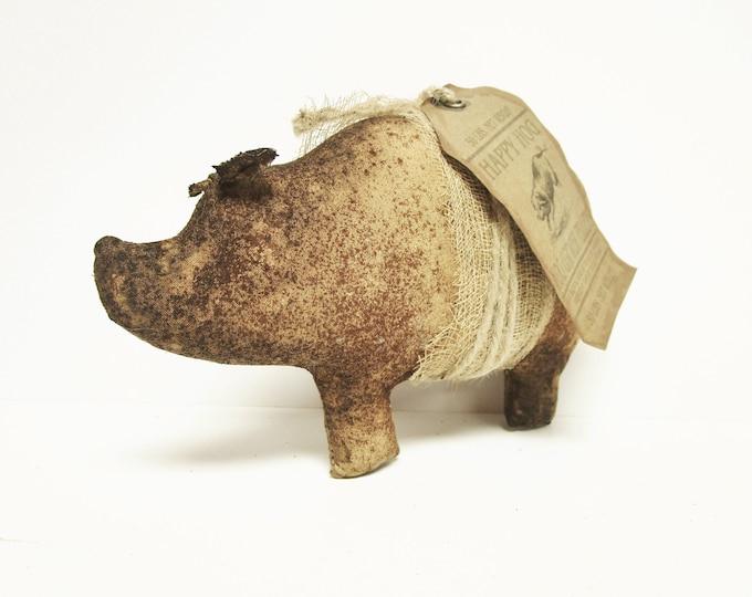 Primitive Pig, Handmade Pigs, Country Farmhouse Decor