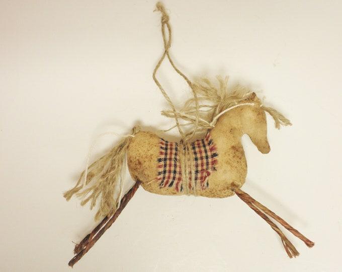 Primitive Horse Ornament - Made To Order | Handmade Horses |  Horse Decor | Country Farmhouse Horse Ornaments