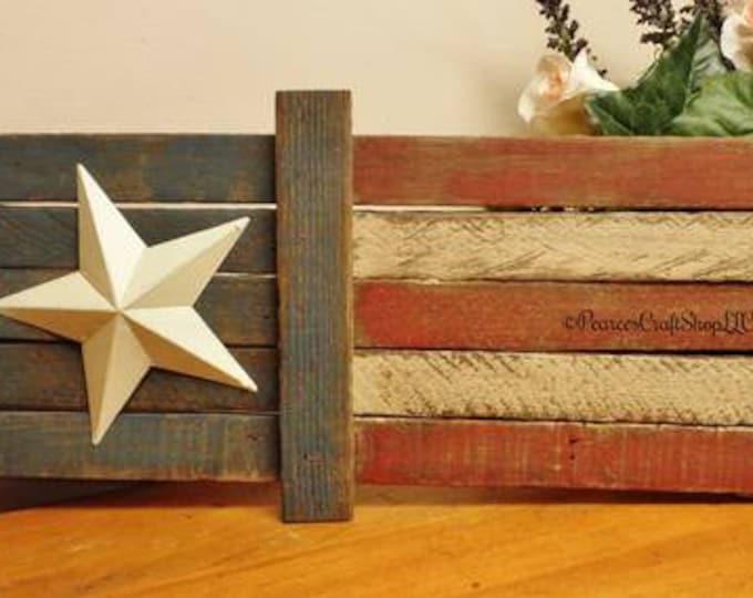 Primitive Flag | Lath Wood Flags | Handmade Flags | Americana Decor | Flag Decor