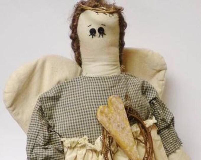 Angel Doll, Primitive Dolls, Country Farmhouse Decor, Decorative Angels, Christmas Decor