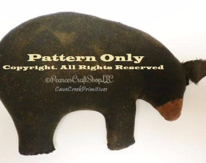 Primitive Bear Pattern | Bear Patterns | Animal Sewing Patterns | CaveCreek Primitives Folkart Patterns