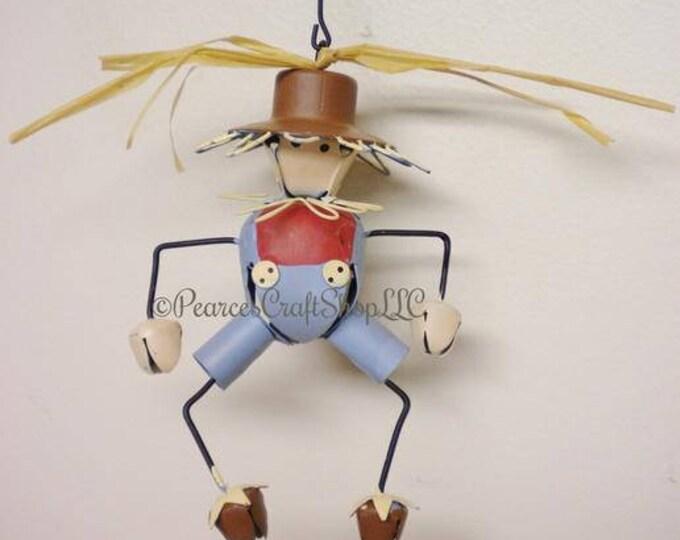 Scarecrow Bell Ornament | Fall Ornaments | Decorative Metal Bells