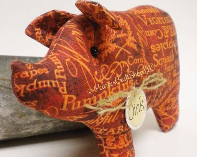 Harvest Pig - Made To Order | Primitive Pigs | Fall Decor