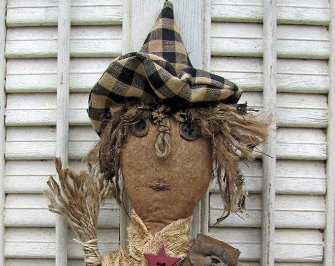 Primitive Witch Pattern, Primitive Dolls, Doll Patterns, Witch Patterns, Primitive Witches, Halloween Patterns, Primitive Halloween