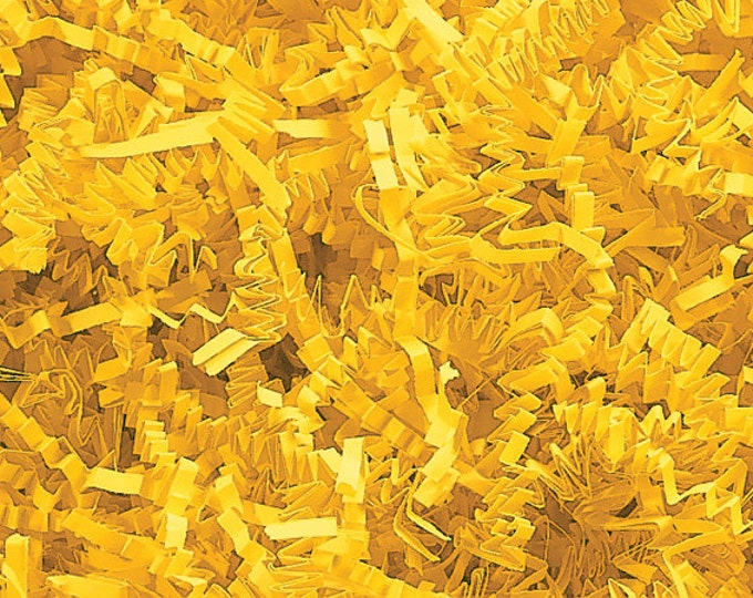 Yellow Paper Shred | Gift Basket Filler | Packing Material | Decorative Paper