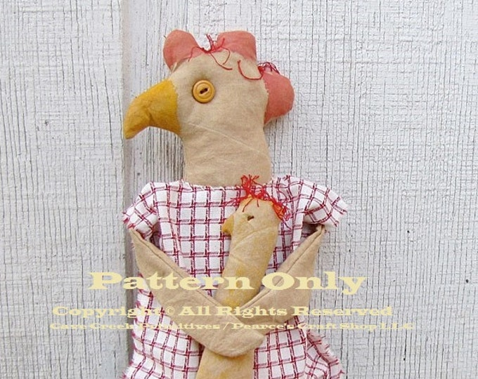 Primitive Chicken Pattern, Chicken Patterns, Primitive Chickens, Animal Patterns, Primitive Animals, Doll Patterns, Primitive Dolls, Chicken