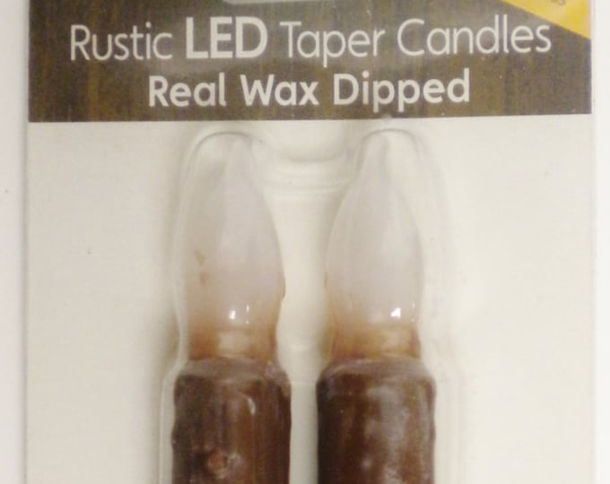 Taper Candles Package of 2 Brown | LED Taper Candles | Primitive Candles