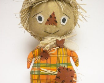 Scarecrow Doll, Primitive Dolls, Halloween Decor, Fall Home Decor