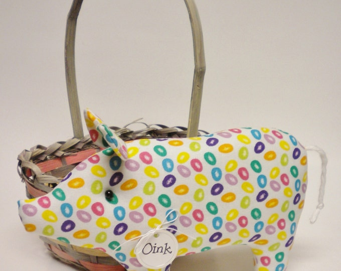 Jelly Bean Pig - Made To Order | Spring Easter Decor | Primitive Pigs