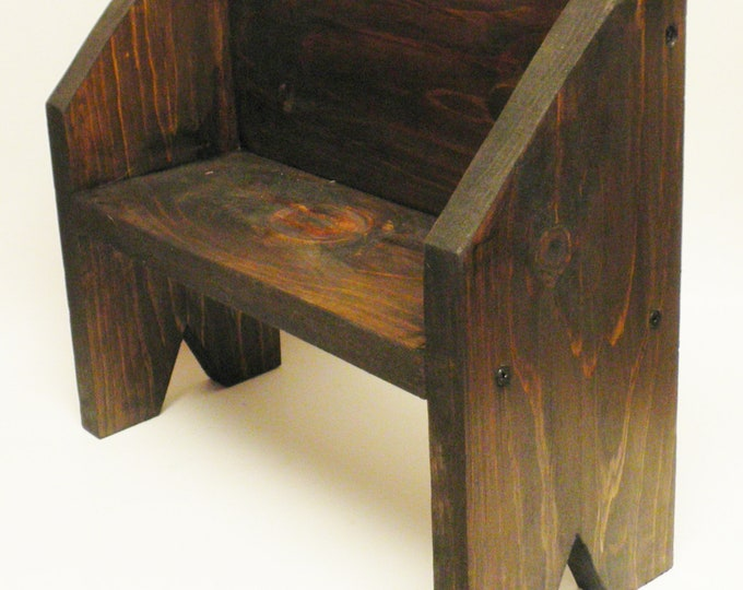 Primitive Deacon Bench Riser, Table Risers, Handmade Wood Benches, Primitive Risers