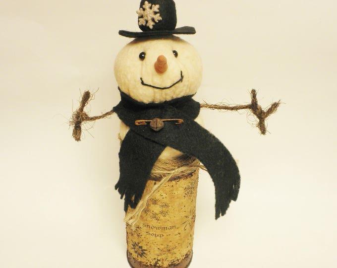 Primitive Snowman Soup, Christmas Decor, Snowman Decorations